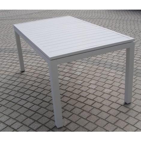 Tavolo Allungabile In Alluminio.Tavolo Da Pranzo Barrel Allungabile Alluminio A Doghe Colore Bianco