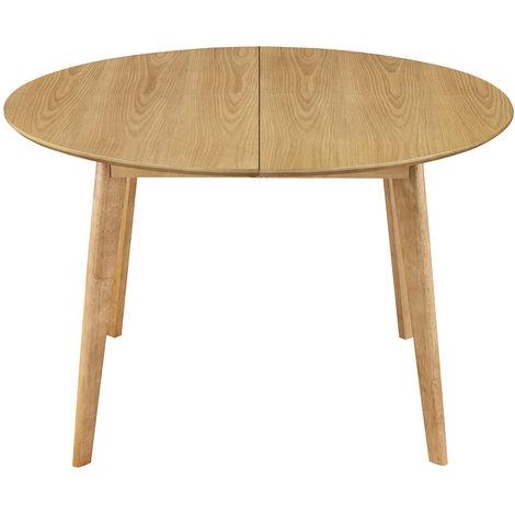 Tavolo da pranzo design rotondo allungabile quercia L120 ...