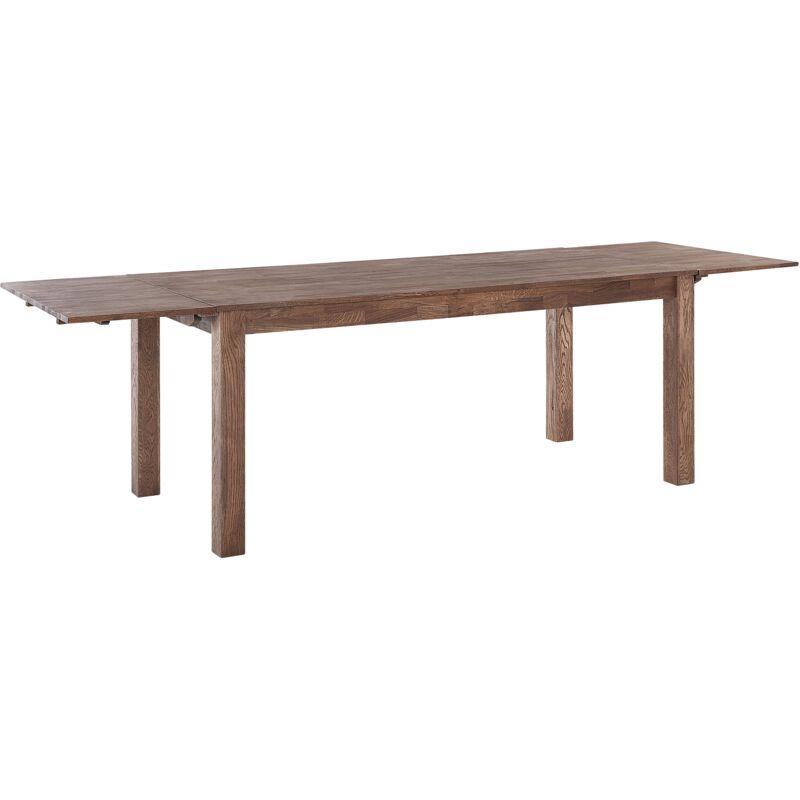 Tavolo da pranzo estendibile in legno marrone scuro 180 x ...