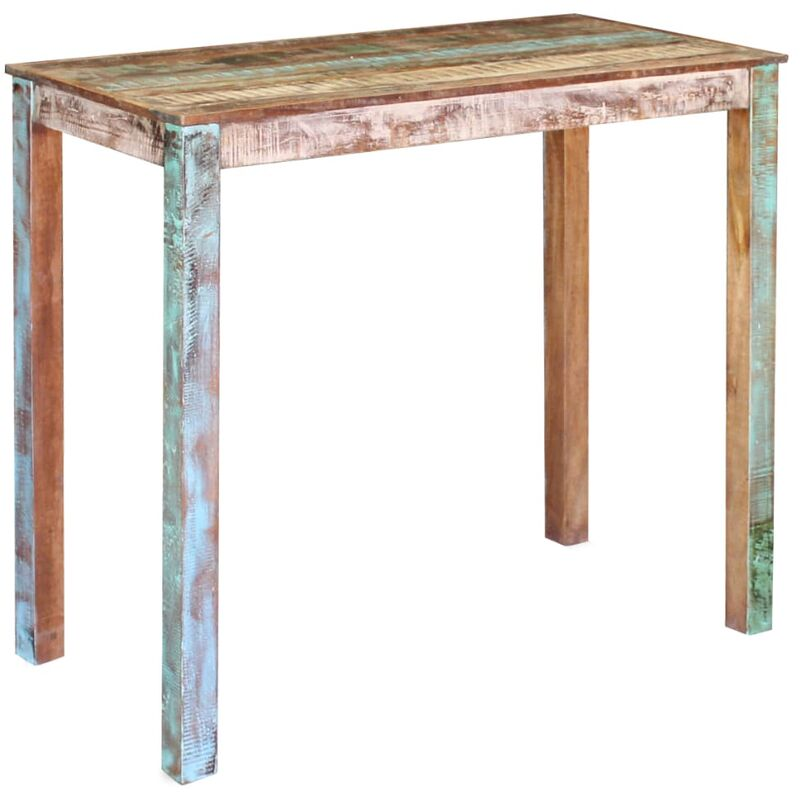 Tavolo da Pranzo in Legno Massello di Recupero 115x60x107 cm