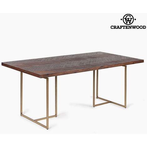 Tavolo da Pranzo Legno di acacia Mdf (180 x 90 x 75 cm) by Craftenwood