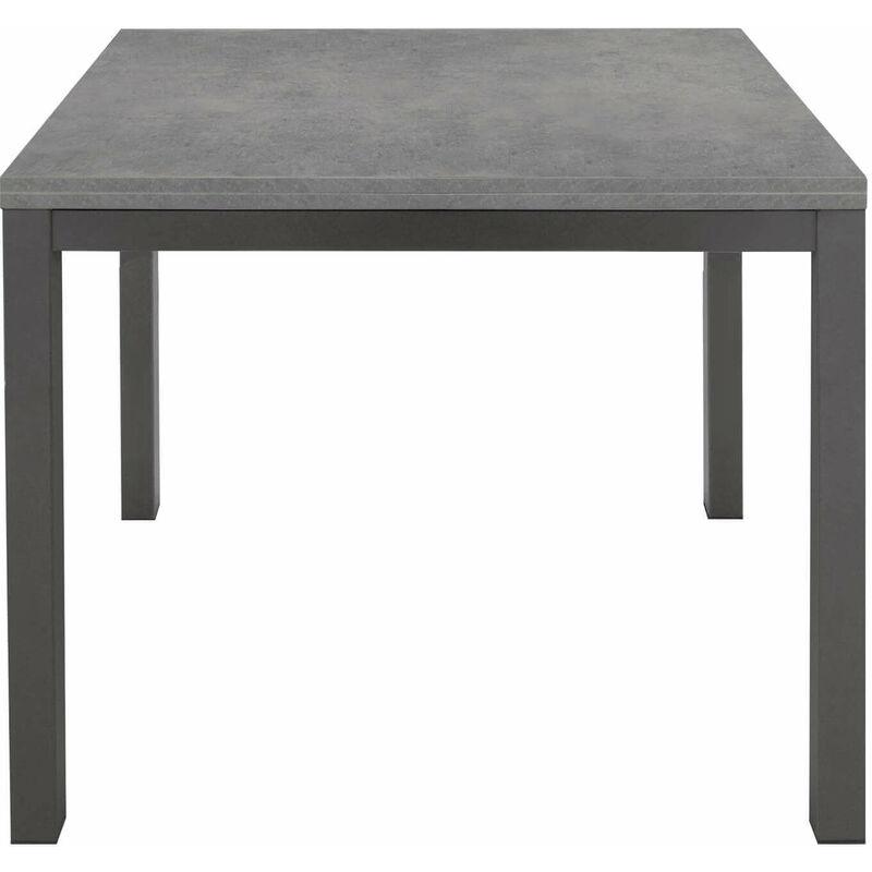 ARREDO HOME Tavolo da Pranzo Moderno di Design ALLUNGABILE Cm 80 X 140//200 Struttura in Metallo Antracite Piano Cemento Bar Ristorante Cucina Soggiorno