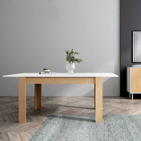 Tavolo Da Pranzo Moderno In Legno Allungabile Tavolo Da Cucina 140 190x90x78cm Bianco Grotta Blanca