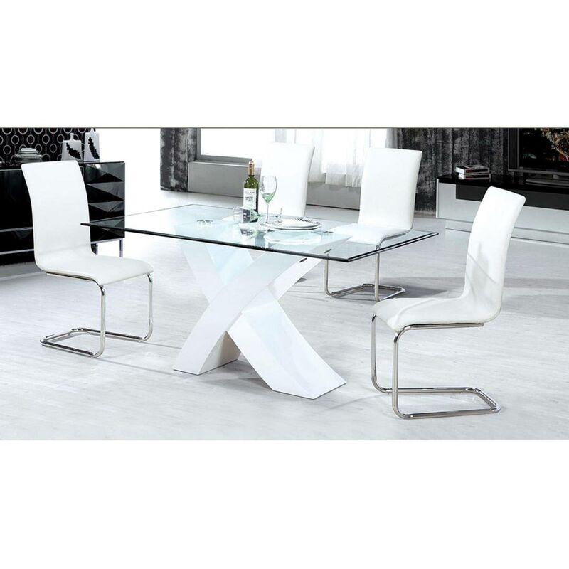 Bianco 200 x 90 x 75 cm Tavolo da pranzo Mona