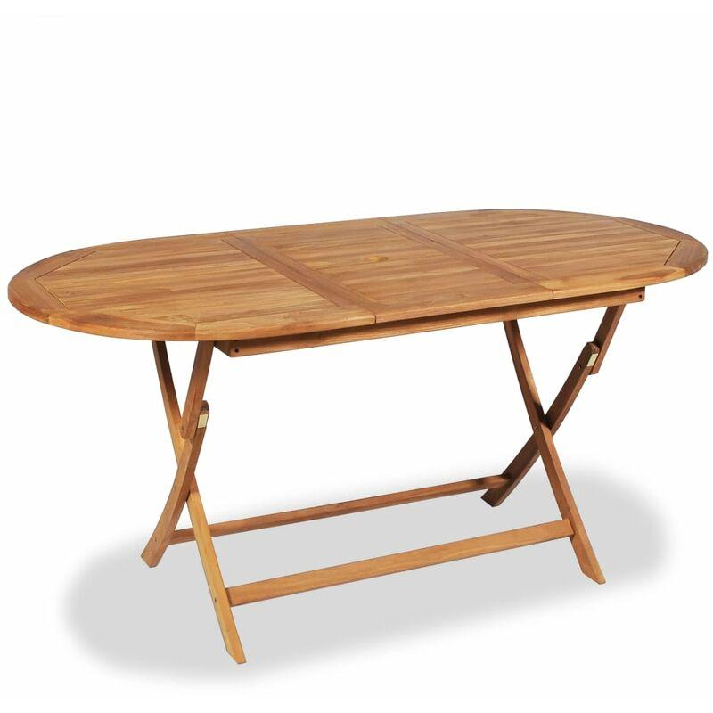 Tavoli Da Pranzo Per Esterno.Tavolo Da Pranzo Per Esterno In Legno Di Teak 160x80x75 Cm