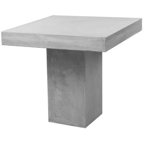 Tavolo In Cemento Da Giardino.Tavolo Da Pranzo Per Esterno Quadrato In Cemento