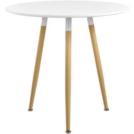 tavolo tavolino tondo Club in acciaio Ø 60x110h pieghevole ribaltabile