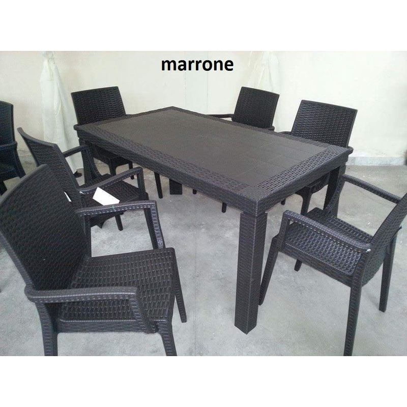 Tavolino Rattan Da Giardino.Tavolo E Sedie 4 6 Da Giardino Poltrone Set Rattan Terrazzo Bar Esterno Garden