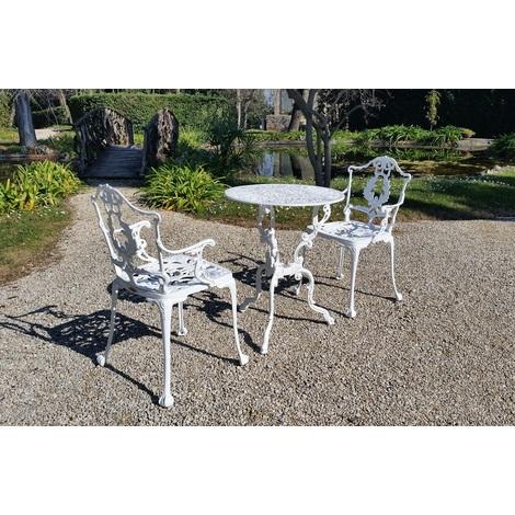 Sedie Da Giardino Alluminio.Tavolo E Sedie Da Giardino E Casa In Alluminio Bianco E Grigio Ghisa