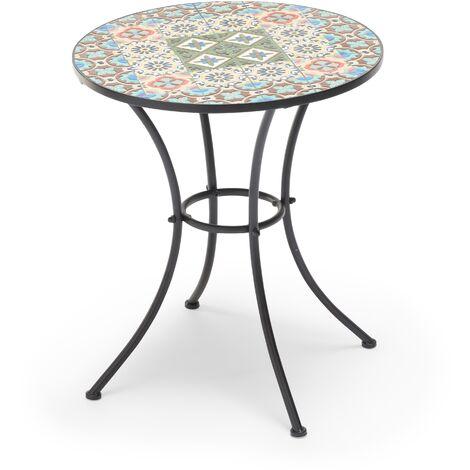 """main image of """"Tavolo Elba per bar e giardini con piano d'appoggio in ceramica 60 centimetri"""""""