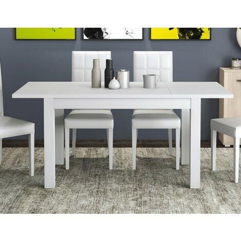 Tavolo Estensibile 110 150 x 70 Pranzo Allungabile Bianco Rettangolare  Salotto