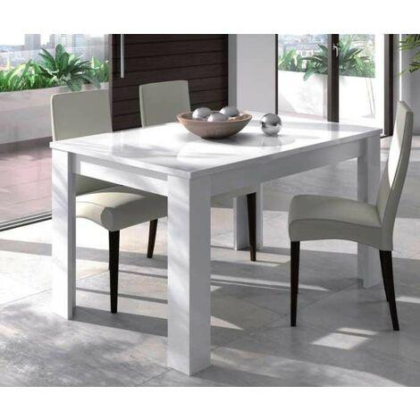 Tavolo Estensibile da Pranzo Allungabile Bianco Moderno Rettangolare per  Salotto