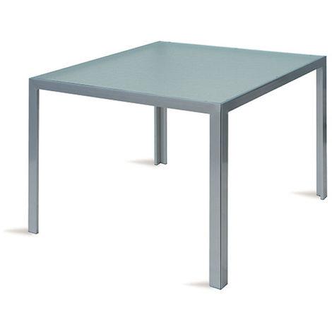 Tavolo Con Piano In Vetro.Tavolo Esterno Giardino In Alluminio Con Piano Vetro Amalfi 90x90