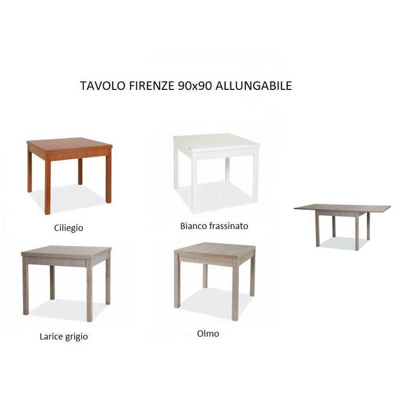 Tavoli Da Cucina Allungabili Firenze.Tavolo Firenze 90x90 Cm Allungabile Bianco Frassinato Bianco Az103
