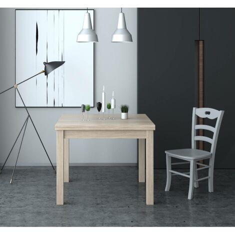 Tavolo Firenze 90x90 cm allungabile olmo | legno - AZ102
