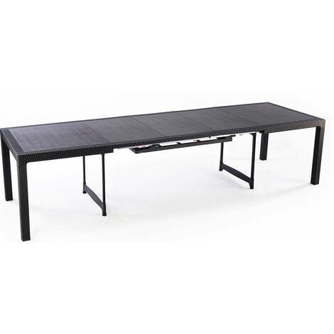 Tavolo Esterno Allungabile.Tavolo Giardino Allungabile Keter Mod Symphony Antracite 162 269x97x75h Cm