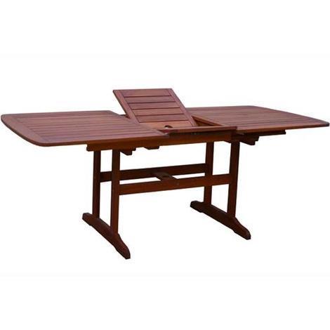 Tavolo Giardino Ovale Allungabile in Legno Vigor Mod.Calipso Cm.147/193