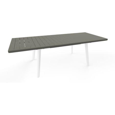 Tavolo Harmony allungabile 76.5 cm x 100 cm x h162/241 cm - KETER - Disponibile in 2 colori