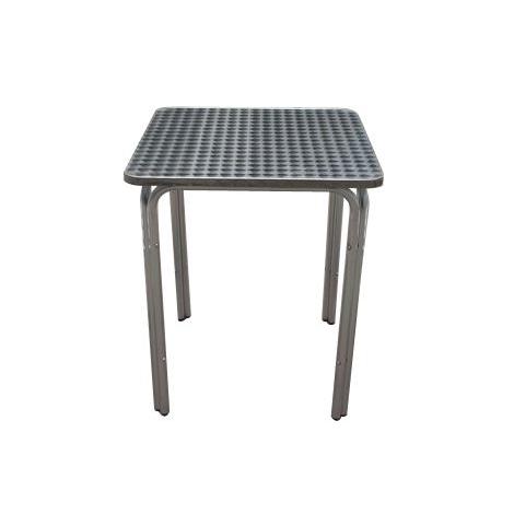 Tavoli In Plastica Impilabili.Tavolo In Alluminio Quadro Mof Happy Hour Papillon 60x60x70hcm