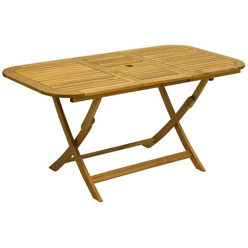Tavolo in legno 160x80 pieghevole da giardino rettangolare for Tavoli pieghevoli brico