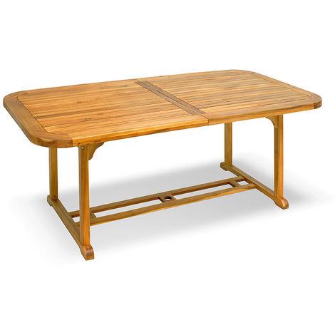Tavoli Da Giardino In Legno Balau.Tavolo In Legno Balau Estensibile Doppio Bordo Arredamento Da