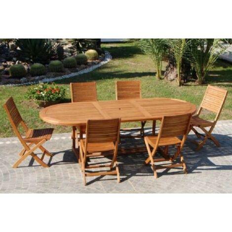 Tavolo in legno di eucalipto allungabile180 240 da esterno for Arredo giardino in legno