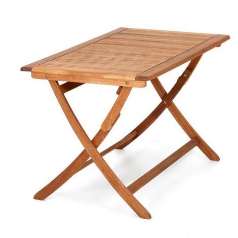 Tavolo Pieghevole Da Terrazzo.Tavolo Pieghevole Da Giardino California 120x70cm Tavolino Da Esterno In Legno