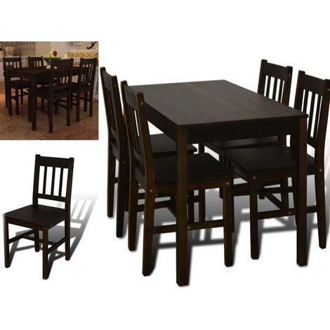 Tavolo in legno di pino con 4 sedie tavolo da cucina soggiorno tavolo  giardino