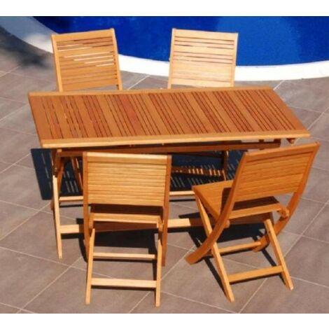 Tavolo in legno per esterno pieghevole 150x80 arredo for Tavolo legno esterno