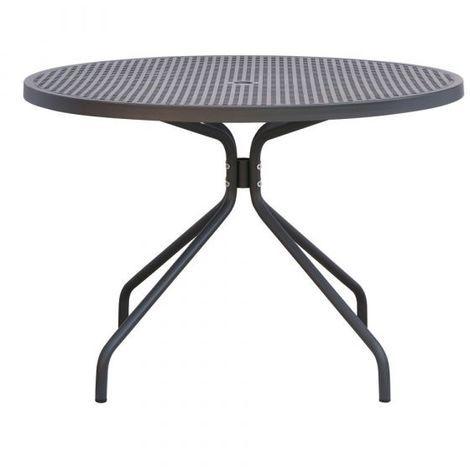 Tavoli In Metallo Da Esterno.Tavolo In Metallo Piano Rotondo Diametro 110 Cm Per Giardino