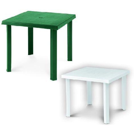 Tavoli In Plastica Impilabili.Tavolo In Plastica Quadrato Tavolo In Resina 80 X 80 Cm Verde