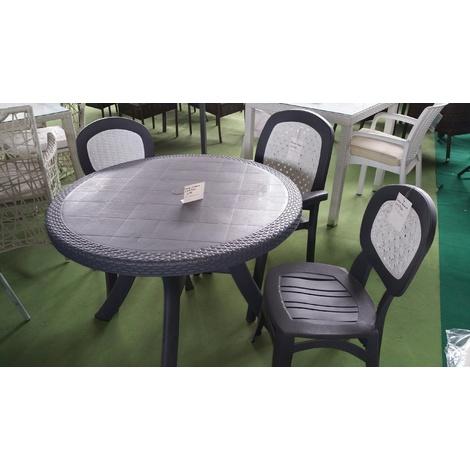 Tavolo in resina della keter rotondo mod. Georgia diametro 98 cm