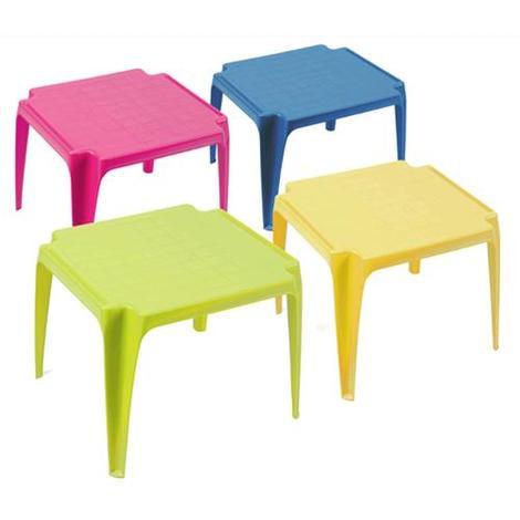 Tavolino Pieghevole Bambini.Tavolo In Resina Per Bimbi Baby 55x50x44 Cm Colori Assortiti