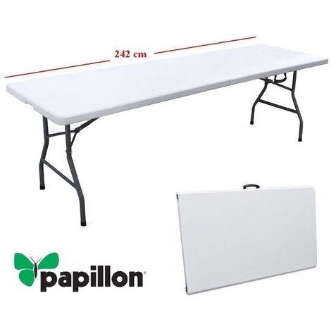 Tavoli In Plastica Pieghevoli.Tavolo In Resina Pieghevole Richiudibile A Valigetta Bianco 242 X