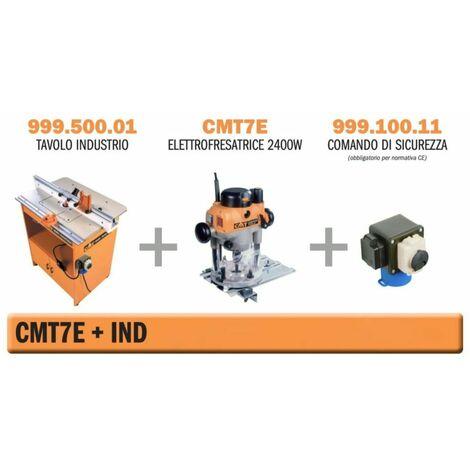 fresatrice verticale 2400w su tavolo industrio con comando
