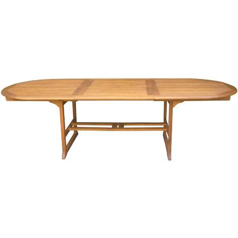 Tavolo Legno Allungabile Da Giardino.Tavolo Ovale Allungabile Da Giardino 280x110 Cm In Legno Di Acacia
