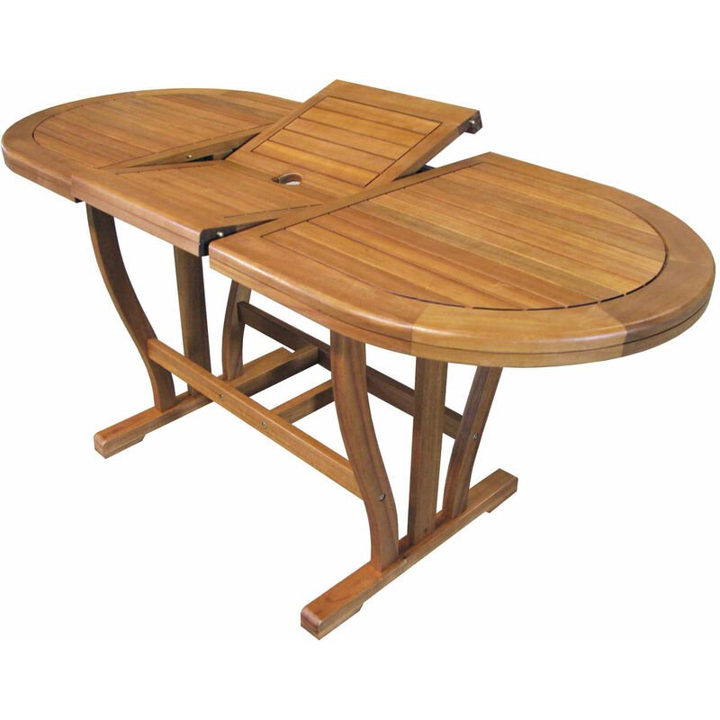Tavolo 100 X 70 Allungabile.Tavolo Ovale Allungabile In Legno Di Acacia 120 160 X 70 Per