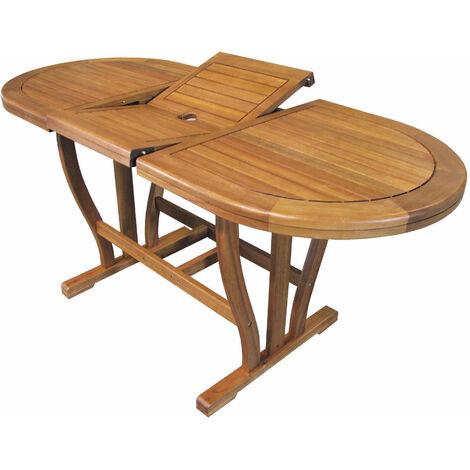 Tavolo In Legno Per Giardino.Tavolo Ovale Allungabile In Legno Di Acacia 120 160 X 70 Per Esterno
