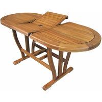 Tavolo Giardino Resina Allungabile.Tavolo Ovale Allungabile In Legno Di Acacia 120 160 X 70 Per Esterno