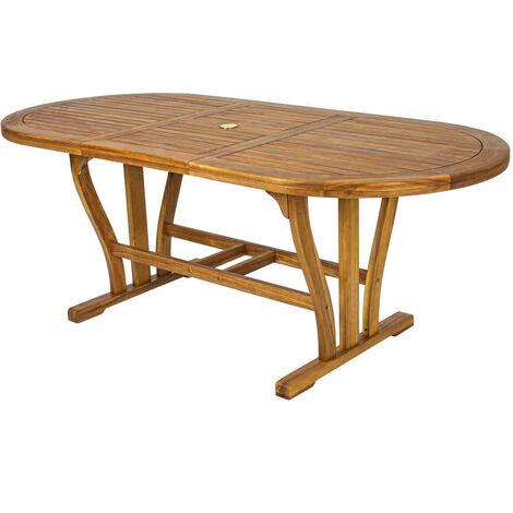 Tavolo Allungabile In Legno Per Esterno.Tavolo Ovale Allungabile In Legno Di Acacia 150 200 X 90 Per Esterno