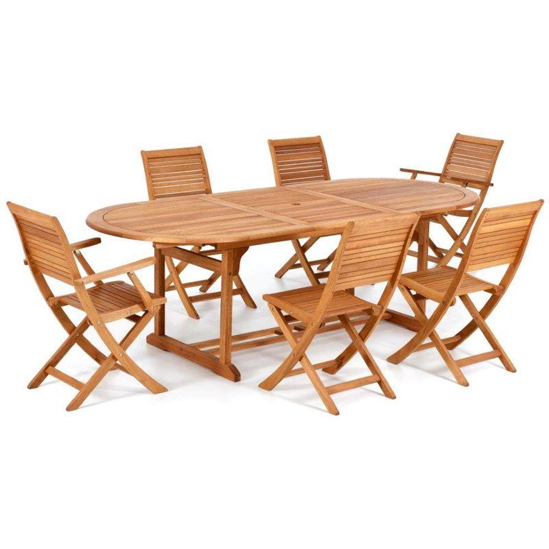 Tavolo ovale in legno Eucalypto California giardino 180 ...