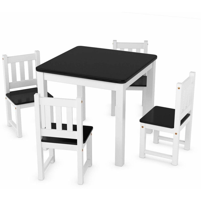 Tavoli Pieghevoli Per Bambini.Tavolo Per Bambini Con 4 Sedie Set Tavolo E 4 Sedie In Legno