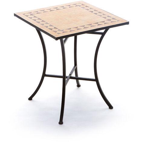 Tavoli Di Plastica Quadrati.Tavolo Per Esterni Quadrato Con Piano D Appoggio In Mosaico Di