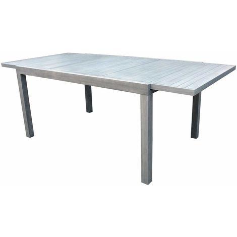 Tavoli In Legno Da Interno.Tavolo Per Interni Ed Esterni In Alluminio Effetto Legno Allungabile