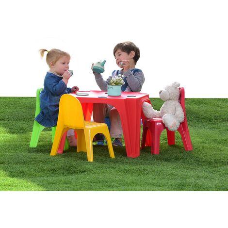 Tavoli E Sedie In Plastica Per Bambini.Tavolo Pic Nic 4 Amici 4 Sedie Plastica Esterno Casa Giardino