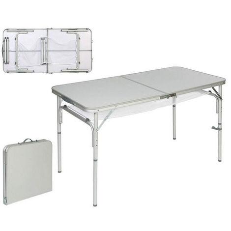 Tavolo Pieghevole In Alluminio.Tavolo Pieghevole Alluminio 120 X 45 X 60 Cm