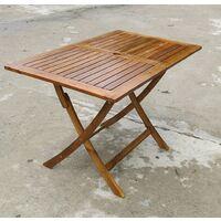Tavolo pieghevole boston cm 120x70x74h acacia richiudibile arredo giardino - Gdr