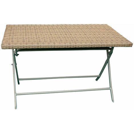 Struttura Pieghevole Per Tavolo.Tavolo Pieghevole Da Giardino Campeggio Struttura In Metallo Con