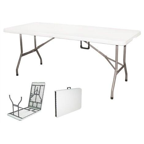 Tavoli In Plastica Pieghevoli.Tavolo Pieghevole Per Catering In Acciaio E Plastica Soriani Bianco