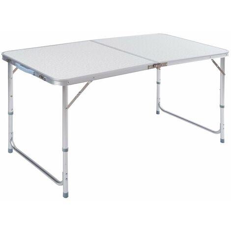Tavoli Pieghevoli Da Mare.Tavolo Pieghevole Valigetta 120 X 60 Cm Da Campeggio Mare Spiaggia In Alluminio Piano Mdf